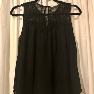 Elodie/ANTHROPOLOGIE sheer lace detailed tank